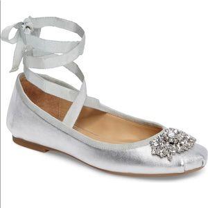 Badgley Mischka Karter II Ballet Flat. Silver